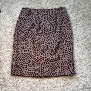❤️Black with Taupe Dots Pencil Skirt by Ann Taylor